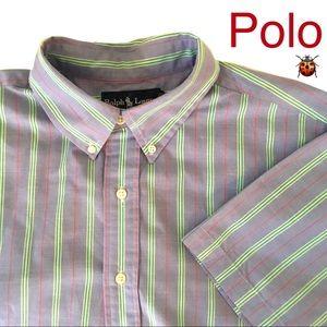 Ralph Lauren Classic Fit Shirt Sleeve Shirt Sz L